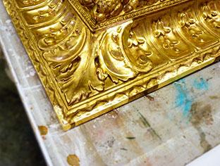 Doratura in foglia oro zecchino