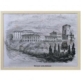 Stampa antica Barzano' nella Brianza