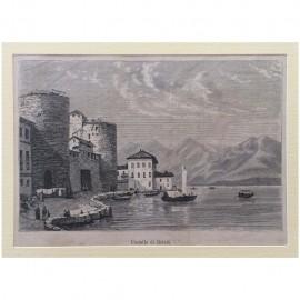 Stampa antica Castello di Brivio