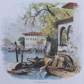Stampa antica Lecco,  Lago di Como