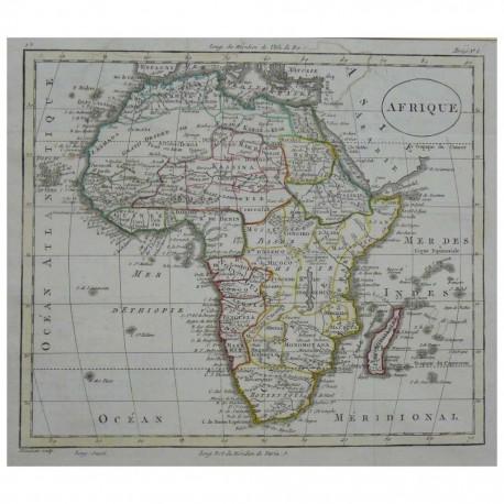 Stampa antica Africa  William Guthrie 1803