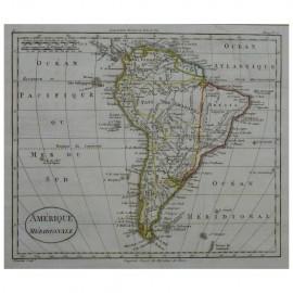 Stampa antica Amerique Meridionale  William Guthrie 1803
