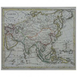 Stampa antica  Carte d' Asie  William Guthrie 1803