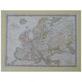 Stampa antica  Carte Generale de l' Europe 1836
