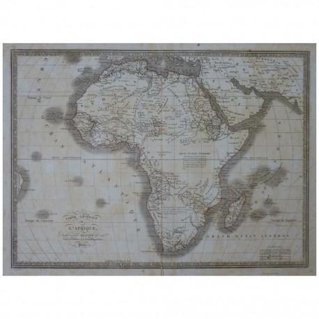 Stampa antica  Carte Generale de l' Afrique 1836
