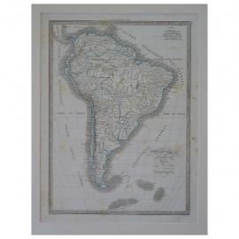 Stampa antica  Carte Generale de l'Amerique Meridionale 1836