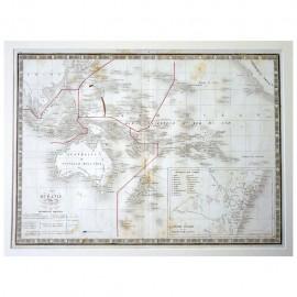 Stampa antica  Oceanie 1836