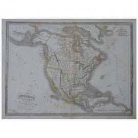 Stampa antica  Carte Generale de l'Amerique Septentrionale 1836