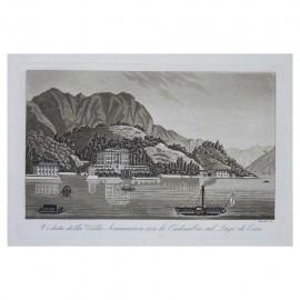 Veduta della Villa Sommariva con la Cadenabia sul Lago di Como