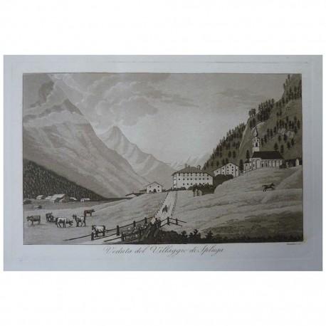 Veduta del Villaggio di Spluga anno 1833