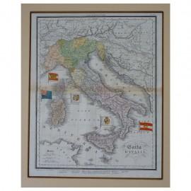 Stampa antica Carta d' Italia