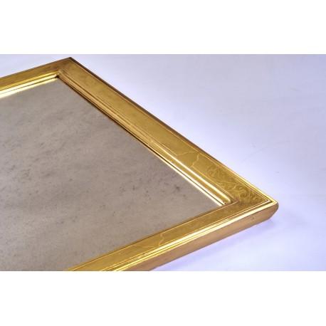 Specchierain legno dorata in foglia oro Zechino. PEZZO UNICO!