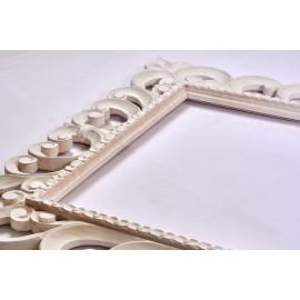 cornice specchiera legno intagliato stile shabbychic