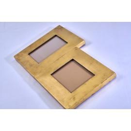 Portafoto cornice dorata foglia oro