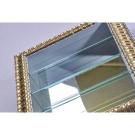 Vetrinetta cornice argento fondo specchio lucido