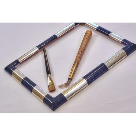 cornice ottagono in foglia oro zecchino