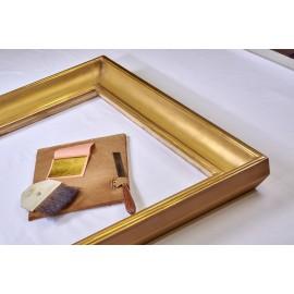 cornice artigiana dorata in foglia oro zecchino stile impero
