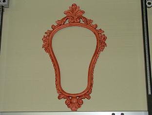 Restauro piccola specchiera in legno intagliato